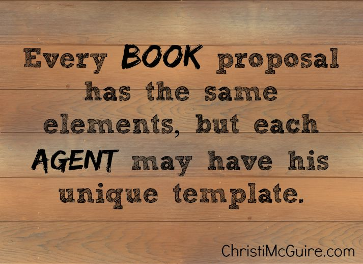 book proposals