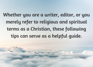 Do you capititalize god related words in literature essay